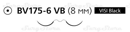 Picture of 8335H Пролен синий  М0.5 (7/0) 60 см две иглы колющие BV 175-6 VISI BLACK