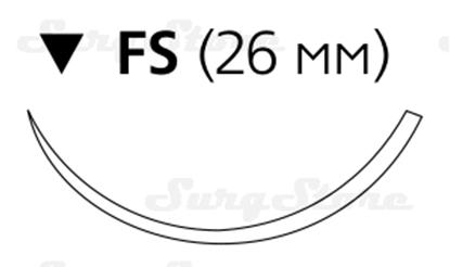 Picture of EH7796H Этилон синий М3 (2/0) 45 см игла обратно-режущая FS