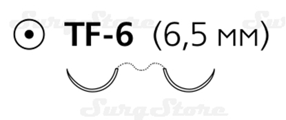 Picture of EH7813E Пролен синий М0.5 (7/0) 45 см, две иглы колющие TF-6 6.5 мм