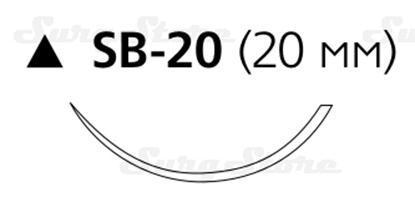 Picture of BP8390 Пролен синий USP5/0 игла режущая PC-5