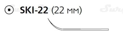 Picture of E9902S Викрил рассасывающийся, 20 см, фиолетовый, 2-0, с иглой SKI-22